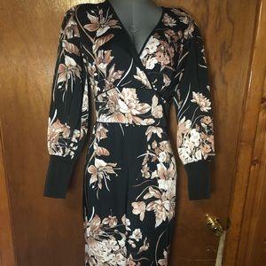 Floral Eva Mendes dress